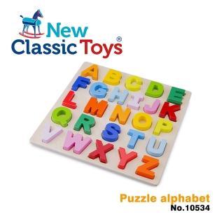 【荷蘭New Classic Toys】幼兒英文字母配對拼圖(10534)