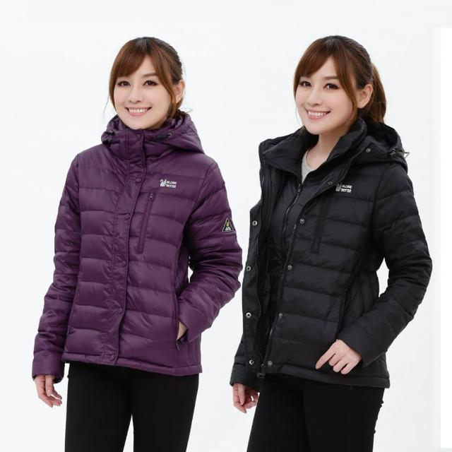 【遊遍天下】女款假二件式JIS90%羽絨防風防潑水極暖羽絨外套G0339 多色(M-5L)
