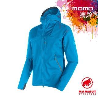 【Mammut 長毛象】Ultimate Hoody Men 輕量防風水套 男款 大西洋藍 #1010-14900(連帽外套)