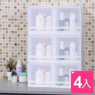 【真心良品】朵拉抽屜式專利收納箱-小(4入)