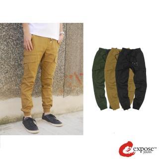 【Expose】美式休閒束口褲(軍綠/卡其/黑)