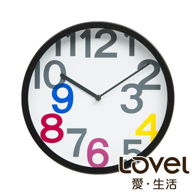 【LOVEL】25cm普普風膠框靜音時鐘(P2507B-P)