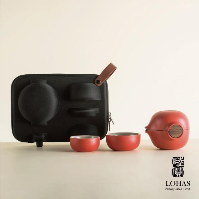 【陸寶Lohas Pottery】喜從天降/開門見福 隨手泡(一壺一海兩杯 帶著茶具去旅行)