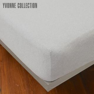 【Yvonne Collection】單人素面純棉床包(淺灰)