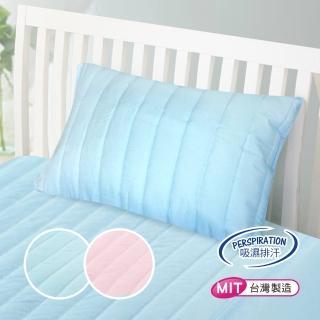【三浦太郎】專利防潑水抗菌防蹣舒柔鋪棉保潔枕套。天空藍(1入)/