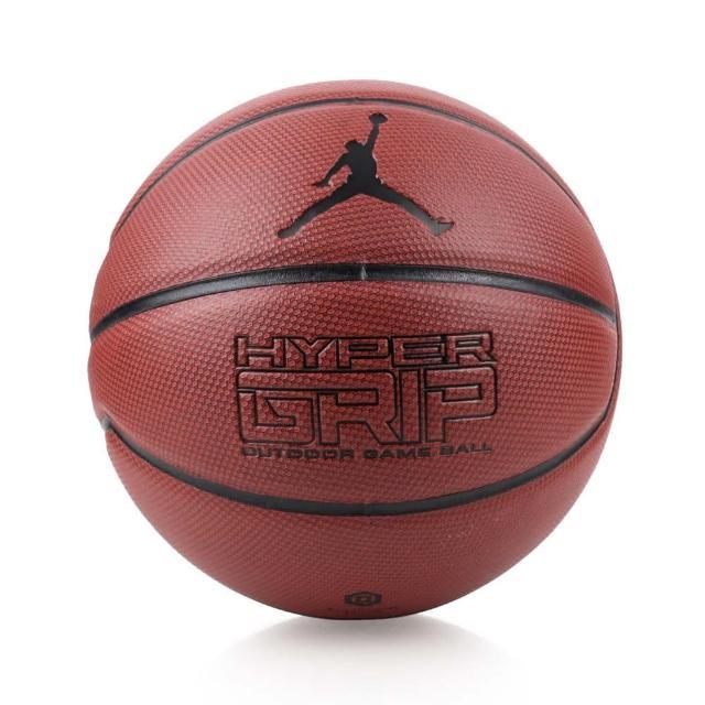 【NIKE 耐吉】JORDAN HYPER GRIP 7號籃球-飛人喬丹 戶外 咖啡黑(JKI0185807)