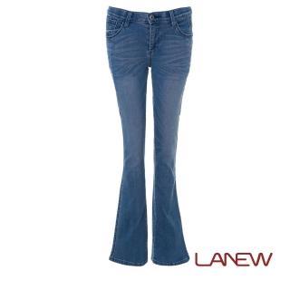 【La new】超彈性中腰小喇叭褲 牛仔褲(女款*283109970)