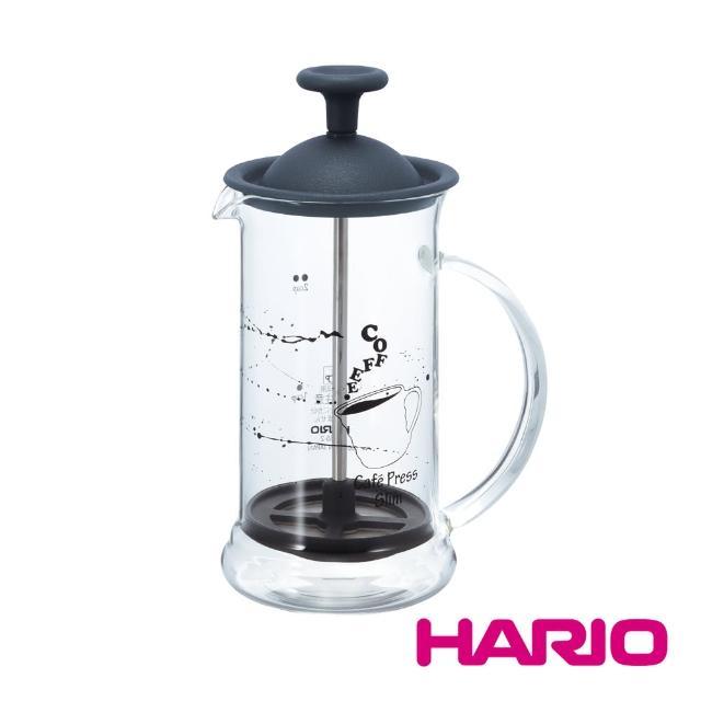 【HARIO】黑灰法式濾壓壺2人份240ml(CPSS-2TB)