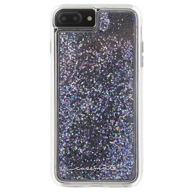 【美國 Case-Mate】iPhone 8 Plus/7 Plus Waterfall(亮粉瀑布防摔手機保護殼 - 黑)