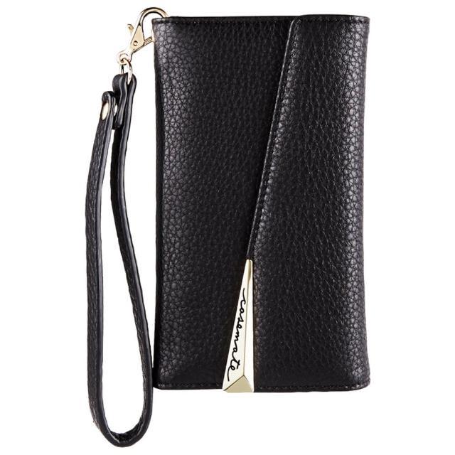 【美國 Case-Mate】iPhone X Leather Wristlet Folio(真皮質感手拿包風格手機殼 - 黑)