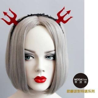 【摩達客】萬聖節派對頭飾-紅黑小惡魔爪創意造型髮箍(髮箍)