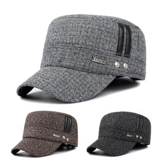 【活力揚邑】護耳平頂帽保暖防風加厚刷毛棒球帽鴨舌帽