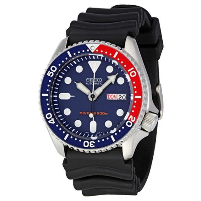 【SEIKO 精工】海馬 DIVERS 機械錶 日期 星期 男錶 潛水錶(SKX009K1)