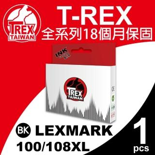 【T-REX霸王龍】Lexmark 100/105/108XL BK 黑色 相容墨水匣(適用S301/302/305)