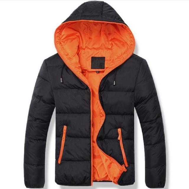 【NBL】J0288B藍橘色/BK黑綠色/BW藍白色韓版潮流休閒(舖棉連帽風衣外套)