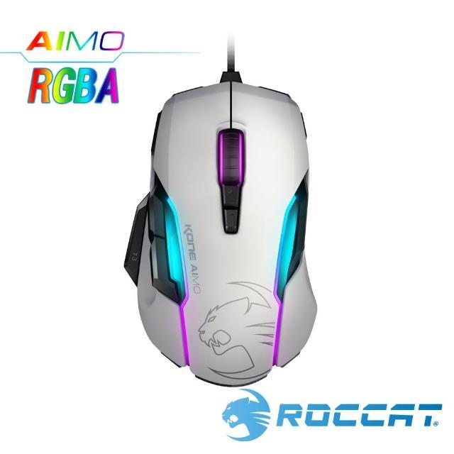 【ROCCAT】Kone-AIMO魔幻系列 艾摩版 RGBA電競滑鼠-白