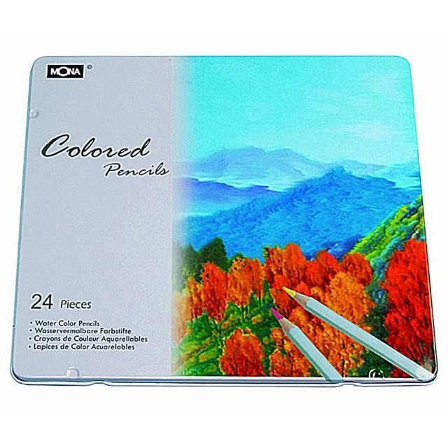 【MONA】80507 油性色鉛筆24色(鐵盒裝)