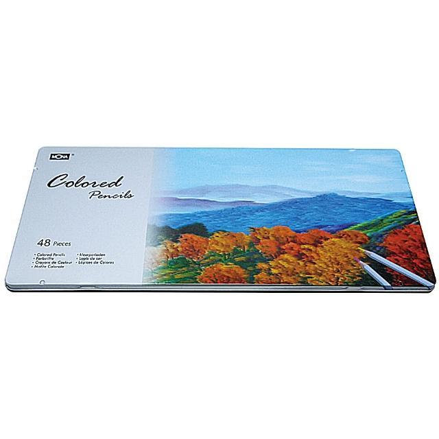 【MONA】80507 油性色鉛筆48色(鐵盒裝)