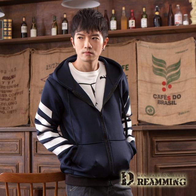 【Dreamming】柔感減壓太空棉休閒連帽外套(共三色)