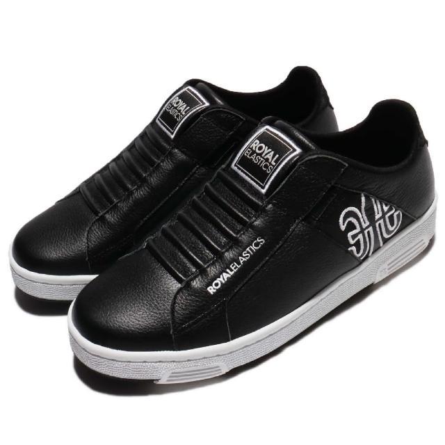 【ROYAL Elastics】休闲鞋 Icon Z 懒人鞋 复古 男鞋 低筒 运动 经典 穿搭推荐 男 黑 白(02974990)