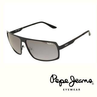 【Pepe Jeans】英倫時尚簡約個性風格太陽眼鏡(PJ5060MC1  黑)