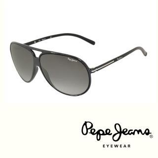 【Pepe Jeans】英倫時尚經典復古風格太陽眼鏡(PJ7109MC1 黑)