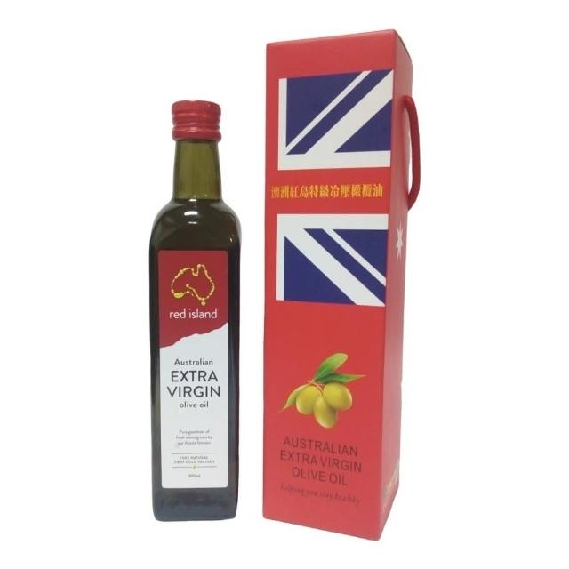 【澳洲 red island 紅島特級冷壓初榨橄欖油500ml 單入禮盒組】
