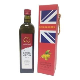 【澳洲 red island 紅島特級冷壓初榨橄欖油750ml 單入禮盒組】