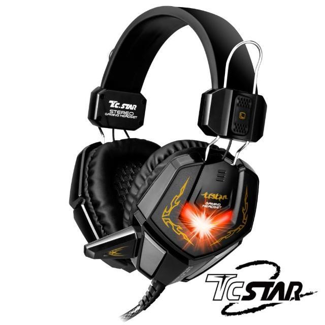 【T.C.STAR】電競頭戴式耳機麥克風/黑(TCE9200BK)