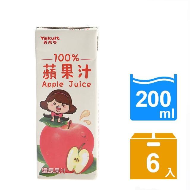 【Yakult 養樂多】100%蘋果汁(200ml*6入/組)