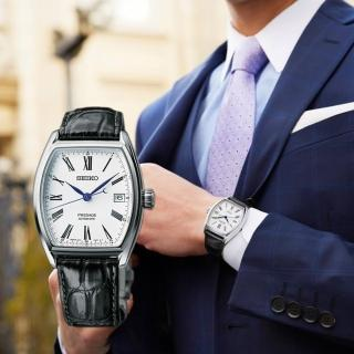 【SEIKO 精工】Presage Enamel 琺瑯機械錶-白/ 36mm(6R15-03T0S  SPB049J1)