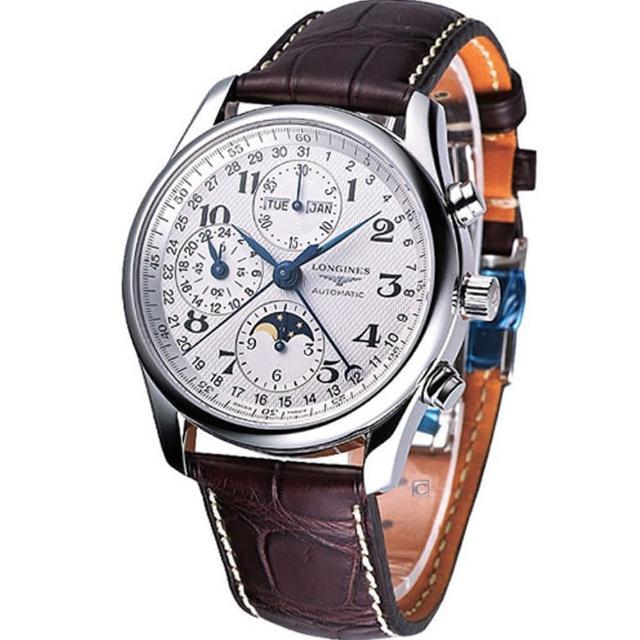 【LONGINES 浪琴】Master巨擘月相盈虧全日曆計時碼錶(L27734783)