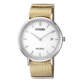 【CITIZEN 星辰】中性百搭指針錶 白 藍寶石玻璃  光動能(AU1080-20A)