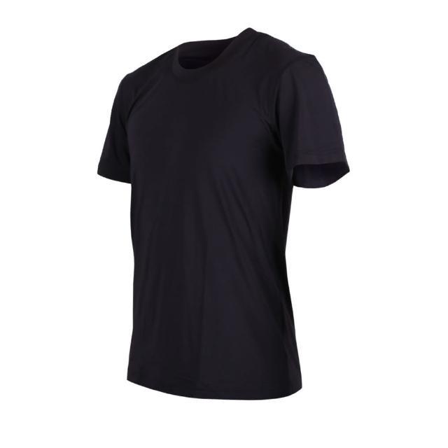 【HODARLA】男女-無懈可擊輕彈機能服-圓領 台灣製 慢跑 輕彈 抗UV 短袖T恤 黑(3138803)