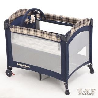 【Kinloch Anderson 金安德森】雙層嬰幼兒遊戲睡床-附蚊帳(贈送玩具架)