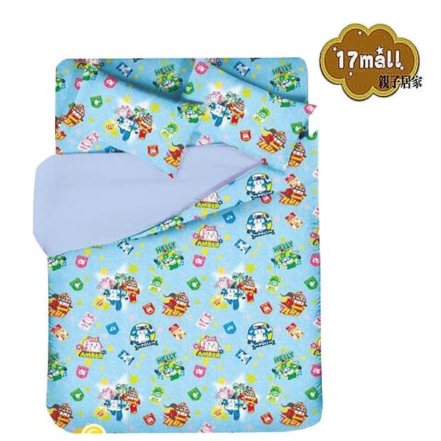 【POLI】救援小英雄波力-單人床包二件式(枕套+床包)