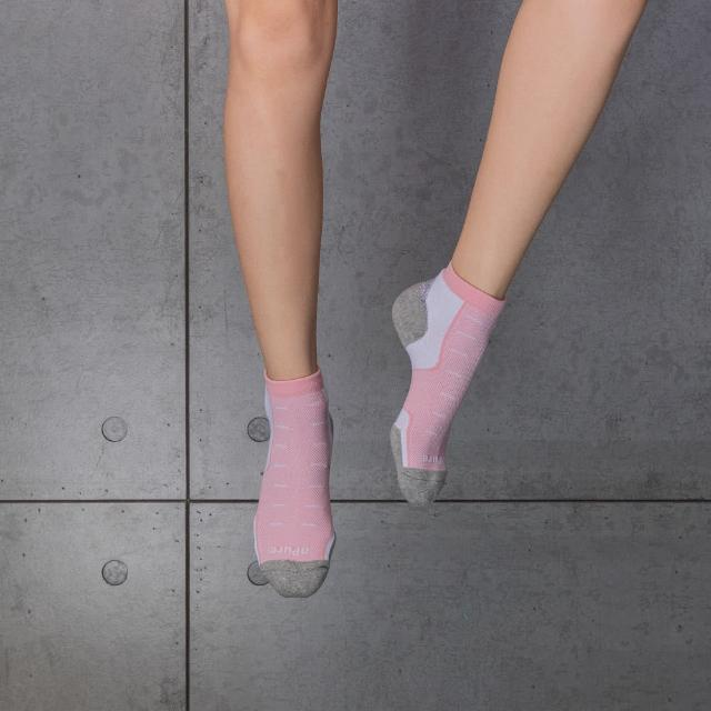 【aPure】除臭襪多功科技運動襪(粉紅)