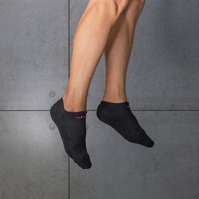 【aPure】除臭襪素色船型運動襪(黑)