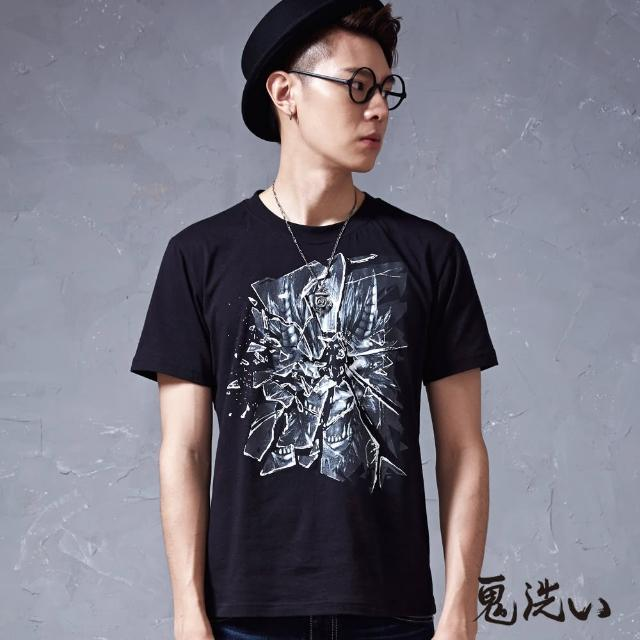 【BLUE WAY】玻璃裂紋爆裂鬼短袖T恤- 鬼洗