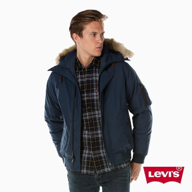 【LEVIS】羽絨外套 男裝 / 鋪毛連帽設計