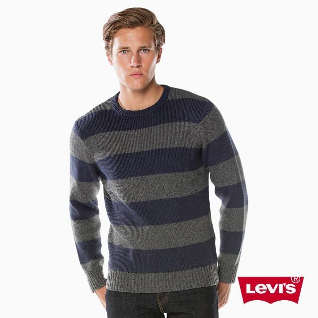 【LEVIS】男款 長袖上衣 / 針織 / 灰色