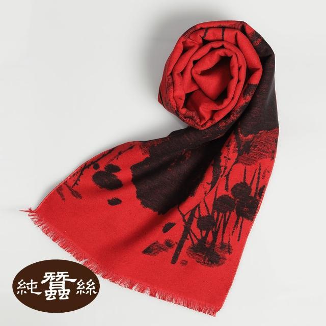 【岱妮蠶絲】純蠶絲保暖刷毛圍巾(蠶絲圍巾)
