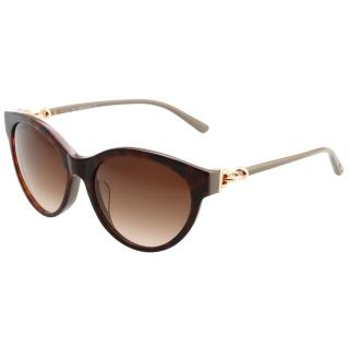 【TOD'S】釦環款 小貓眼 太陽眼鏡(琥珀色)