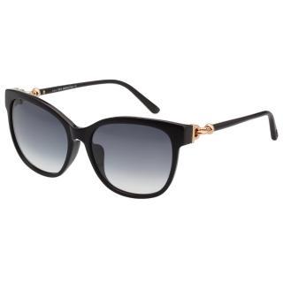 【TOD'S】釦環款 小貓眼 太陽眼鏡(黑色)