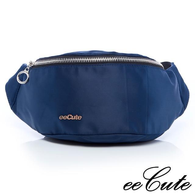 【eeCute】輕量尼龍隨身包-可當腰包&斜背包-經典藍(EEEG020-NV)