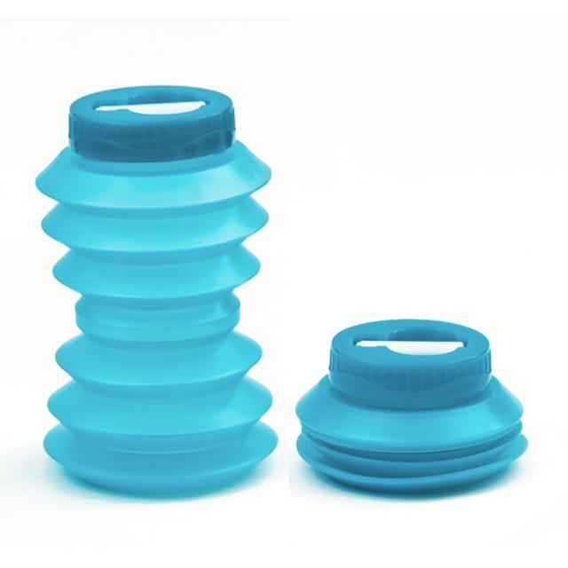 【Ohyo】伸縮環保水壺 500ml(藍色)