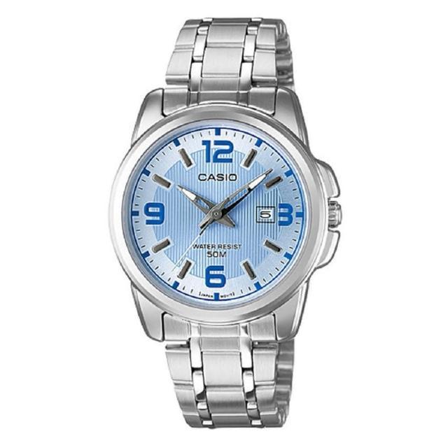 【CASIO 卡西歐】簡約知性女腕錶-藍面(LTP-1314D-2A)