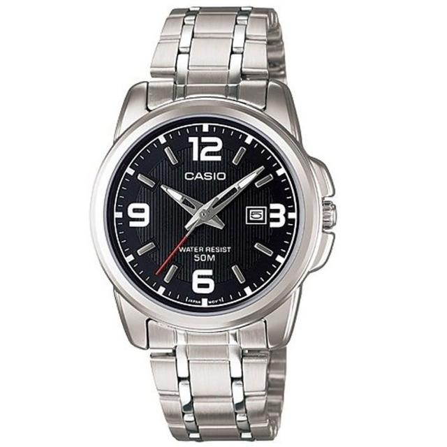 【CASIO 卡西歐】簡約知性女腕錶-黑面(LTP-1314D-1A)