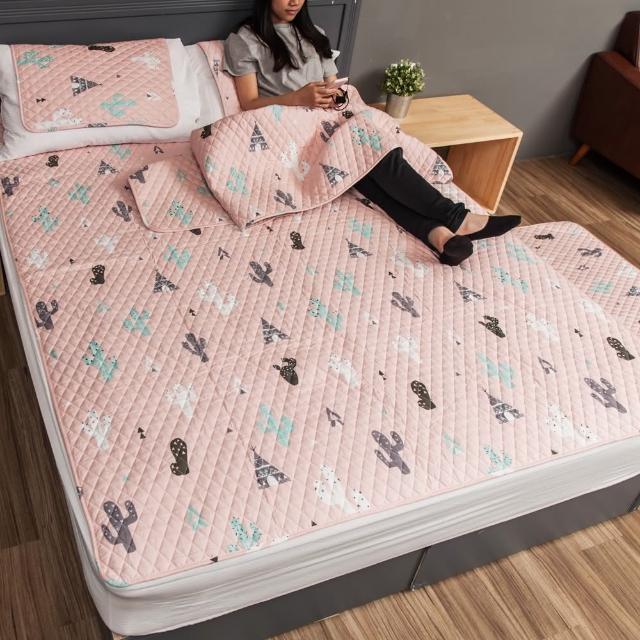 150x190CM 純棉舒柔可機洗布藝防滑絎縫墊 坐墊 雙人床墊 爬行墊 遊戲墊 地墊 保潔墊