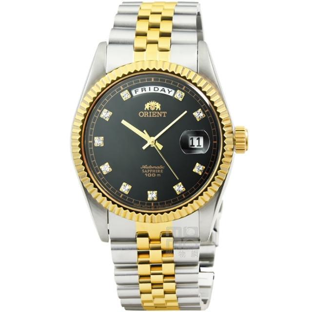 【ORIENT 東方錶】東方錶機械鋼帶錶-中金黑面(FEV0J002B 原廠公司貨)